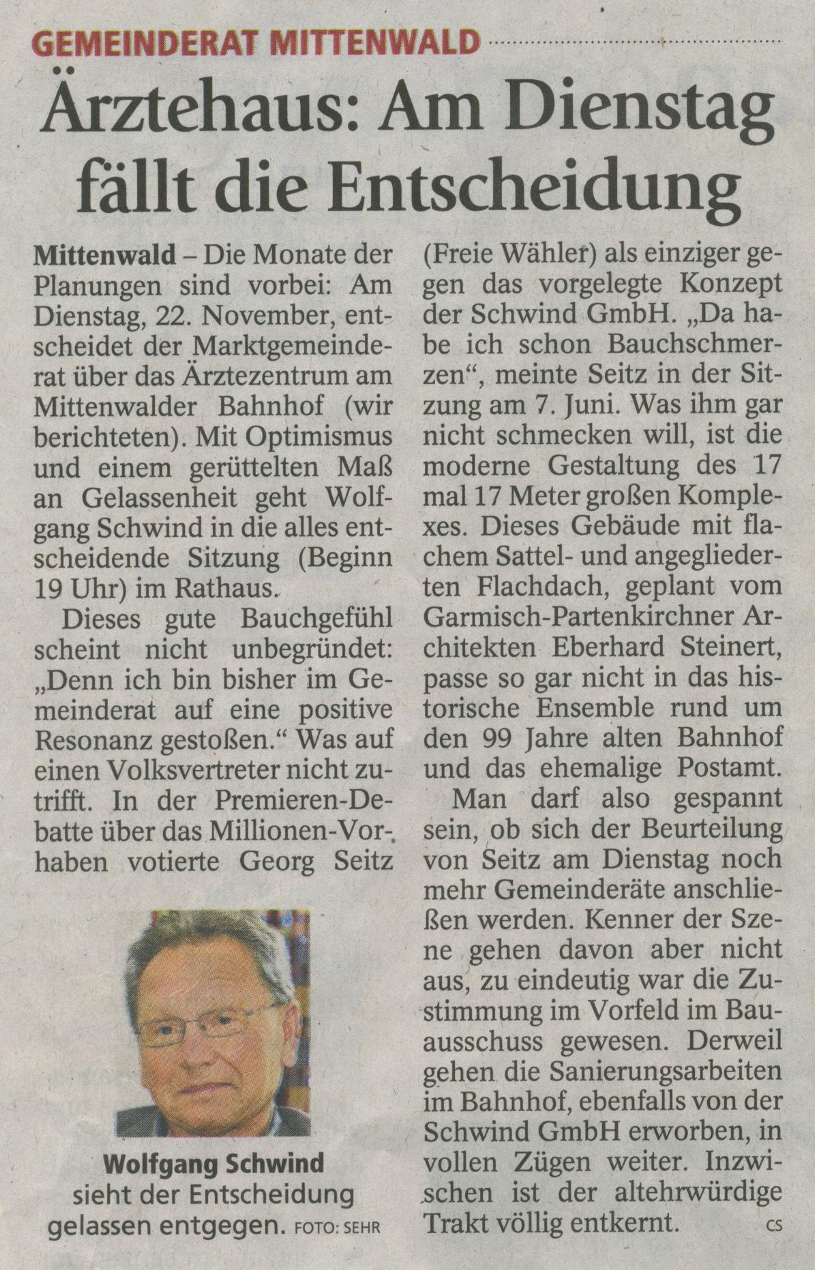 Garmisch-Partenkirchner Tagblatt 19.11.2011