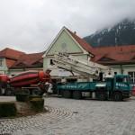 Bahnhofsansicht während des Umbaus